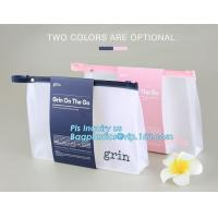 Buy cheap Standup Cosmetic PVC Bag With Slider, Promotional PVC Toiletry bag with zipper and slider, daily use of plastic bag with from wholesalers