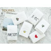 Quick Dry Soft Antibacterial Cotton Face Towel For Baby / Travelling