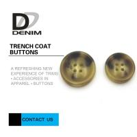 Buy cheap Bright Color Trench Coat Buttons High Wear Resistance With Sewing Hole from wholesalers