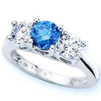Buy cheap 18K White Gold Jewelry, Blue Topaz And Diamond Ring from wholesalers