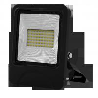 Buy cheap outdoor lighting lamp flood light led 30W 60pcs SD5730 IP66 isolated IC driver black fixture new slim integrated design from wholesalers