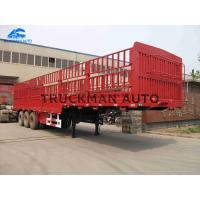 Buy cheap 3 Axles Fence Semi Trailer  High Tensile Steel Q345 With Linglong Brand Tire from wholesalers