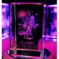 Buy cheap Libra Laser Etched Crystal Cube from wholesalers