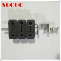 Buy cheap Power cable and Fiber cable clamp with 3 stack hanger rubber sleeve from wholesalers