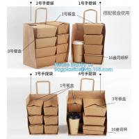 Buy cheap Custom Logo Printed Grocery Packaging Craft Brown Kraft Paper Shopping Bag with Handle,Kraft Paper Shopping Bag , Paper from wholesalers