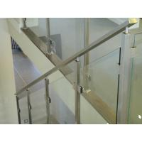 Buy cheap Fixing Balustrade Steel And Glass Stair Railing No Welding Only Screws from wholesalers