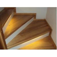 Buy cheap Triangle shape natural white oak solid wood stair treads from wholesalers