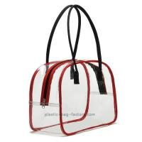 Buy cheap Deluxe High Transparency PVC Tote Bag Red PVC Tube Trim For Multi Purposes from wholesalers