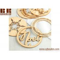 Buy cheap Unfinished Natural Noel Holiday Laser Cut Wood Ornaments Christmas Tree Decoration from wholesalers