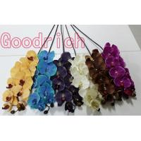 Buy cheap real touch artificial orchid flowers with 10 heads from wholesalers