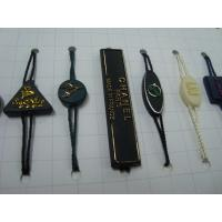 Buy cheap custom plastic luggage tags with gold embossed logo self locking plastic tags from wholesalers