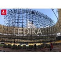 Buy cheap 10m High Backdrop Stage Steel Layher Truss / Space Truss Structure from wholesalers