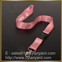 Buy cheap Pink Nylon lanyard for ID badge holder, nylon neck ribbon with detachable buckle from wholesalers