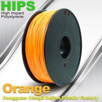 Quality Markerbot , Cubify  3D Printing Materials HIPS Filament 1.75mm / 3.0mm Orange Color for sale