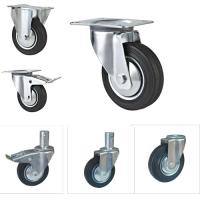steel core rubber caster quality steel core rubber caster for sale