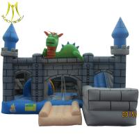 Buy cheap Hansel amusement outdoor kids inflatable bouncer castle with slide for sale from wholesalers