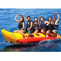 Buy cheap 6 Person Tarpaulin PVC Inflatable Boat , Banana Boat Tube With 3 Pcs Valve from wholesalers