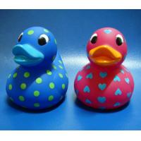 Buy cheap Lovely Heart Shaped Custom Rubber Ducks Pink / Blue Color Toys Retail EN71 from wholesalers