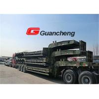 Buy cheap Heavy equipment Low Bed Semi Trailer with hydraulic System 70T Loading Capacity from wholesalers