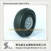 Buy cheap 10 inch pneumatic rubber wheel 4.10/3.50-4, air filled rubber wheel 3.50-4, pneumatic wheel 3.50-4 from wholesalers