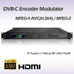 Buy cheap 4*DVB-S2 TO DVB-C Re-Modulator TransModulator with CI slot  DVB-T, DVB-C, ATSC, ISDB-T RF output optional from wholesalers