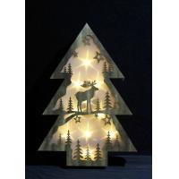 Buy cheap wooden festival christmas tree shaped gift home decoration battery led light from wholesalers