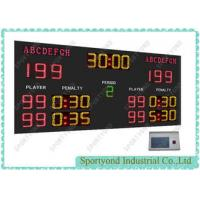 Buy cheap Single Sided Display Handball Scoreboard Led Ultra Bright , Red Yellow Green from wholesalers