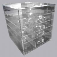 Clear acrylic perspex cosmetic makeup drawer organizer - Acrylic desk drawer organizer ...