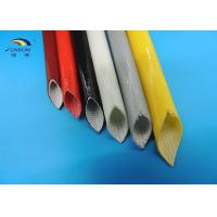 Buy cheap Silicone Coated Fiberglass Braided Sleeving / Insulation Silicon Glass Tube Cable Sleeve from wholesalers