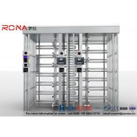 Buy cheap 304 Stainless Steel Turnstile Full Height Brushed Surface Treatment With Double Lane product
