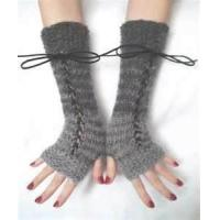 Buy cheap Comfy lovely wool crochet arm warmers Fingerless Long Gloves for running from wholesalers