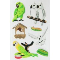 Buy cheap Decorative birdie Puffy Stickers For Kids room decor DIY Eco OEM from wholesalers