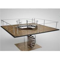 Buy cheap Indoor Modern Design glass spiral staircase with stainless steel balustrade in Prima from wholesalers