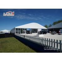 Buy cheap Blockout PVC Roof Cover Sport Event Tents 15m Ridge Height Polygon Tent Waterproof from wholesalers