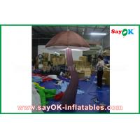 Buy cheap Vivid Brown Inflatable Mushroom with LED light Inside for Show Decoration from wholesalers