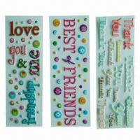 Buy cheap Puffy/foam stickers, eco-friendly material, used for decoration, promotional/advertisement product