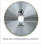 Buy cheap Diamod Music Slot Alumina Ceramic Cutting Saw Blades from wholesalers