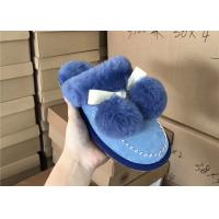 Buy cheap Luxurious Dyed Women's Merino Fluffy Sheep Wool Slippers , Ladies Sheepskin Slippers from wholesalers
