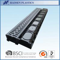 Buy cheap Black plastic drainage channel for park,sidewalk use 1000x125x80mm from wholesalers