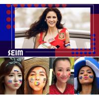 Buy cheap Tattoo Sticker Waterproof 3d Flower Face World Cup Flag Creative Custom from wholesalers