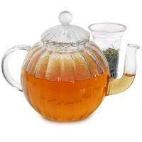 Buy cheap Borosilicate heat resistant glass teapot with warmer from wholesalers