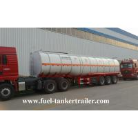 Buy cheap Tri - Axles 45000 liters fuel / crude oil tank trailer with 2 / 3.5 Kingpin from wholesalers