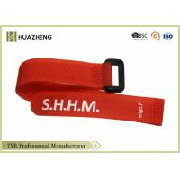 Buy cheap Red Carry Hook Loop Strap With Logo , Adjustable hook and loop Strap from wholesalers