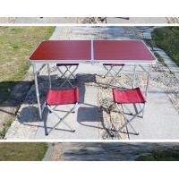 Buy cheap 4FT Folding Tabel and Chairs picnic camping table, garden banquet MDF folding long table from wholesalers