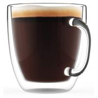 Buy cheap Borosilicate Beverage Mugs Double Wall Glass Coffee Cup Tea Cups With Handle from wholesalers