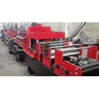 Buy cheap Dual Holes Punching C Purlin Roll Forming Machine Hydraulic 14 MPa Work Pressure from wholesalers