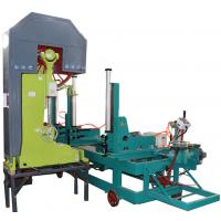 Buy cheap 42'' Log wood cutting Vertical band bandsaw saw mill machine with electric carriage from wholesalers