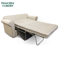 Buy cheap High Density Foam Beige White Apartment Hotel Sofa Bed from wholesalers