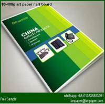 Buy cheap 80gsm 67*87cm Coated art paper Art Paper Brochure Printing from wholesalers