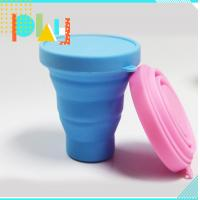 Quality Silicone Rubber Products silicone folding cup with lid for picnic / home / office for sale